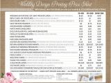 Average Cost Of Printing Wedding Invitations Printing Price List for Wedding Invitations and Coordinating