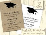 Avery Graduation Party Invitation Templates Download and Print Invitation Template for Quinceanera