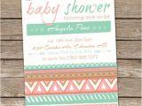 Aztec Baby Shower Invitations Aztec Baby Shower Invitation Tribal Shower Invitation Arrow