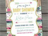 Aztec Baby Shower Invitations Tribal Baby Shower Invitation Aztec Baby Shower