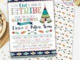 Aztec Baby Shower Invitations Tribal Baby Shower Invite Printable Invitation Teepee