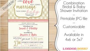 Baby and Bridal Shower Combined Invitations Bination Bridal & Baby Shower Invitation