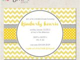 Baby and Bridal Shower Combined Invitations Items Similar to Chevron and Dots Custom Baby Shower