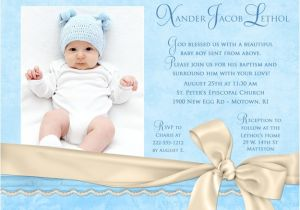 Baby Baptism Invitations Templates Baby Boy Baptism Invitations Template