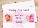 Baby Birth Party Invitation 10 Personalised Baby Girl Birth Announcement Thank You