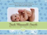 Baby Birth Party Invitation Se390 Birth Announcement Boy Baby Boy Announcement