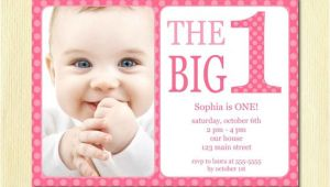 Baby Birthday Invitation Template First Birthday Baby Girl Invitation Diy Photo Printable