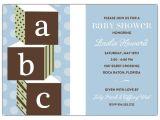 Baby Block Baby Shower Invitations Abc Blocks Blue Baby Shower Invitations