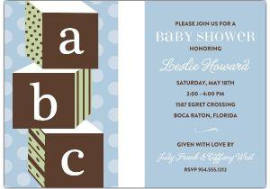 Baby Block Shower Invitations Abc Blocks Blue Baby Shower Invitations Paperstyle