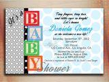Baby Block Shower Invitations Baby Blocks Baby Shower Invitation Baby Blocks Birthday