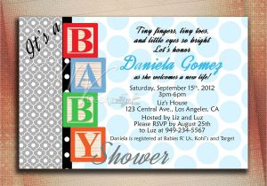 Baby Block Shower Invitations Baby Blocks Baby Shower Invitation Baby Blocks Birthday
