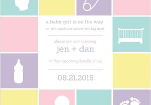 Baby Block Shower Invitations Baby Blocks Baby Shower Invitation Girl Baby Shower