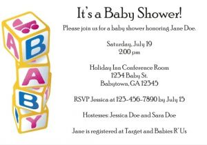 Baby Block Shower Invitations Baby Blocks Baby Shower Invitation Personalized Party Invites