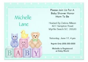 Baby Block Shower Invitations Baby Blocks Shower Invitation 5 Quot X 7 Quot Invitation Card Zazzle