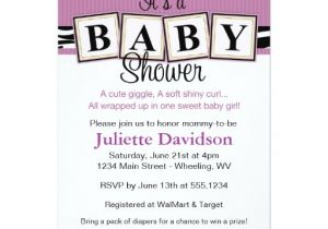 Baby Block Shower Invitations Zebra Print Baby Blocks Baby Shower Invitation Zazzle