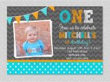 Baby Boy 1st Birthday Party Invitations Invitation Card for First Birthday Of Baby Boy Images