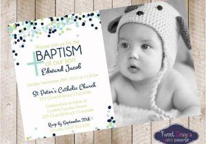 Baby Boy Baptism Invites Baptism Invitation Boy Baptism Invitations Baptism