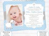 Baby Boy Baptism Invites Baptism Invitations for Boys Christening Invitations for