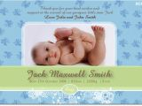 Baby Boy Birth Party Invitation Se390 Birth Announcement Boy Baby Boy Announcement