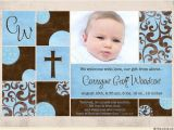 Baby Boy Birth Party Invitation Shabby Chic Birth Announcement Pink Brown Girl