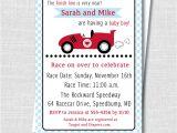 Baby Boy Race Car Shower Invitations Boy Race Car Baby Shower Invitation Boy Baby Shower