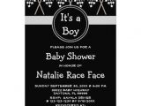 Baby Boy Race Car Shower Invitations Checkered Flag Boy Girl Baby Shower Invitation