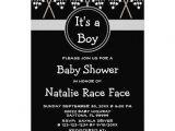 Baby Boy Race Car Shower Invitations Checkered Flag Boy Girl Baby Shower Invitation