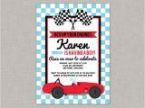 Baby Boy Race Car Shower Invitations Race Car Baby Shower Invitation Race Car Baby Shower Boy
