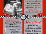 Baby Boy Race Car Shower Invitations Race Car Shower Invitation Baby Boy Horsepower Red