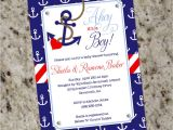 Baby Boy Shower Invitations Nautical theme Ahoy It S A Boy Nautical themed Baby Shower Invitations