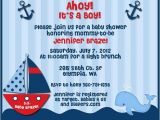 Baby Boy Shower Invitations Nautical theme Ahoy Its A Boy Nautical theme Baby Shower Invitations for