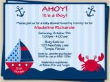 Baby Boy Shower Invitations Nautical theme Ahoy Its A Boy Nautical theme Baby Shower Invitations with