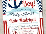 Baby Boy Shower Invitations Nautical theme Nautical Baby Shower Invitation with Free Diaper by