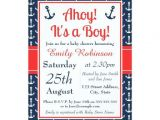 Baby Boy Shower Invitations Nautical theme Nautical Baby Shower Invitations