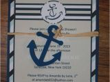 Baby Boy Shower Invitations Nautical theme Nautical Little Sailor Baby Shower Invitation with Anchor