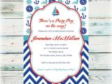 Baby Boy Shower Invitations Nautical theme Printable Nautical Baby Shower Invitation Baby Boy Shower