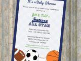 Baby Boy Shower Invitations Sports theme Baby Boy Shower Invitations All Star Invite Sports themed
