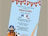 Baby Boy Shower Invitations Sports theme Sports themed Baby Shower Invitation All Star Invite Mvb
