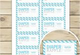 Baby Boy Shower Invitations with Diaper Raffle Blue Baby Shower Diaper Raffle Tickets Aqua Blue Baby
