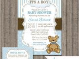 Baby Boy Shower Invitations with Teddy Bears Boy Teddy Bear Baby Shower Invitation with Free Diaper