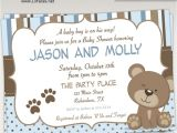 Baby Boy Shower Invitations with Teddy Bears Teddy Bear Baby Shower Invitations – Gangcraft