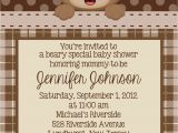 Baby Boy Shower Invitations with Teddy Bears Teddy Bear Invitation Personalized Custom Teddy Bear