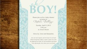 Baby Boy Shower Invite Poem Oh Boy Esie Baby Shower Invitation Poem Card Address