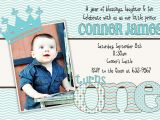Baby First Birthday Party Invitation Wording Baby Boy First Birthday Invitations Free Invitation