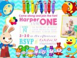 Baby First Tv Birthday Invitations Baby First Tv Inspired Birthday Party Photo Invitation
