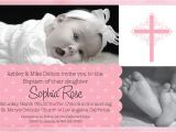 Baby Girl Baptism Invitation Free Templates Baptismal Invitation Template