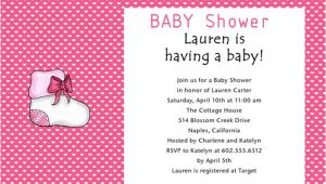 Baby Girl Shower Invitation Wording Examples June 2012