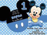 Baby Mickey 1st Birthday Personalized Invitations Baby Mickey First Birthday Invitations Best Party Ideas