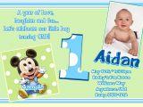 Baby Mickey 1st Birthday Personalized Invitations Mickey Mouse 1st Birthday Invitations Baby by