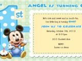 Baby Mickey 1st Birthday Personalized Invitations Mickey Mouse 1st Birthday Invitations for Girls and Boys